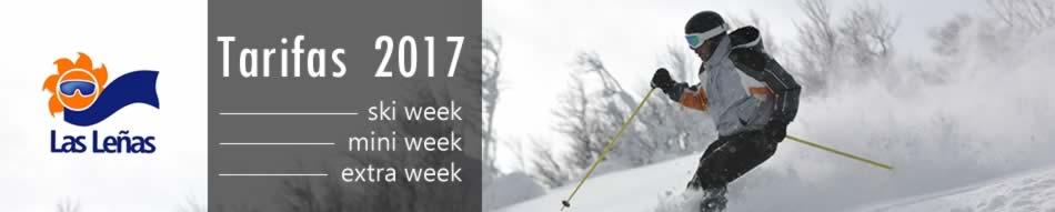 Tarifas Ski Las Leñas 2017