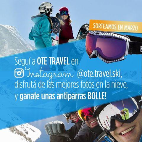 Seguinos en nuestro  #instagram @ote.travel.ski y participá por dos pares de ant…