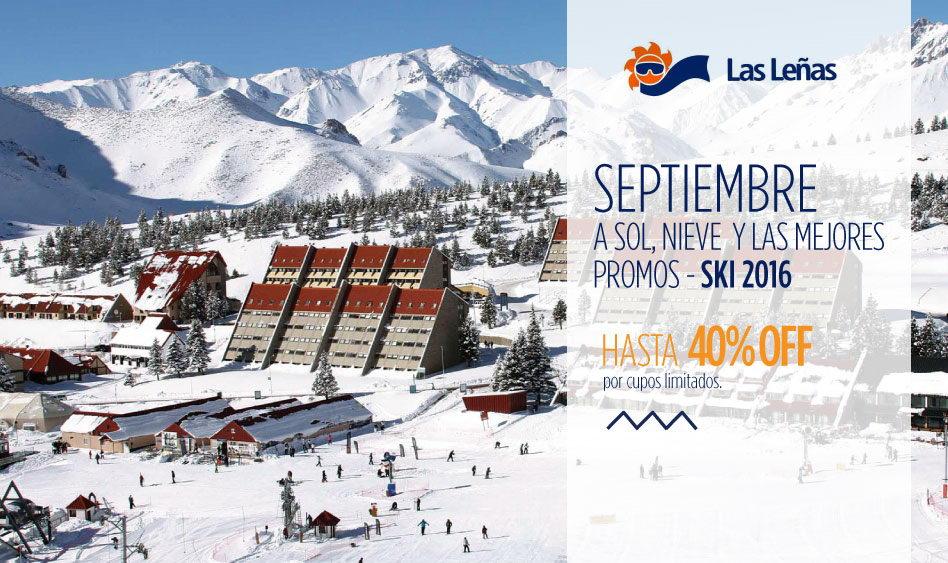Septiembre en Las Leñas 2016 – 40% off