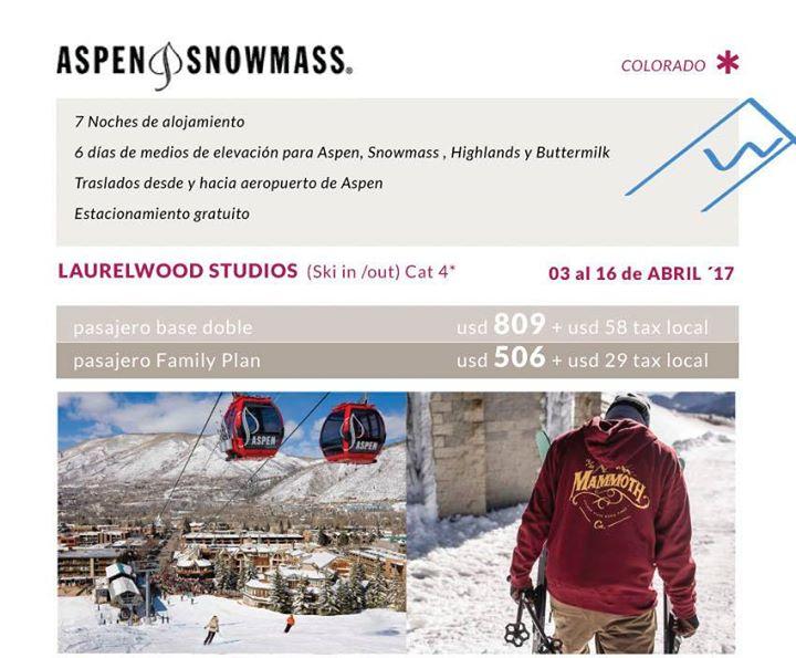 Aspen Snowmass temporada baja!!!! Precios increíbles con OTE SKI,  #1 en ventas …