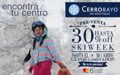 Cerro Bayo 2017 – 30% Off – Vacaciones de Invierno