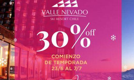 APERTURA DE TEMPORADA EN VALLE NEVADO!!! Aprovechá con OTE SKI un 30% de descuen…