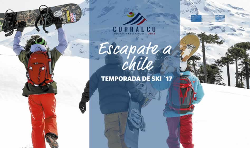 Corralco Ski 2017 en 12 cuotas