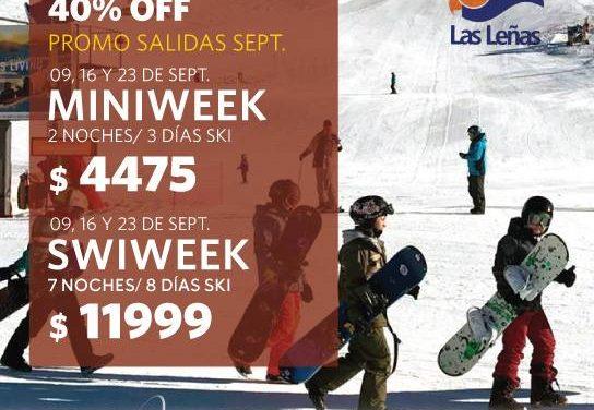 #LasLeñas  #Septiembre !!! Muchísima nieve y tarifas de temporada baja para vos…