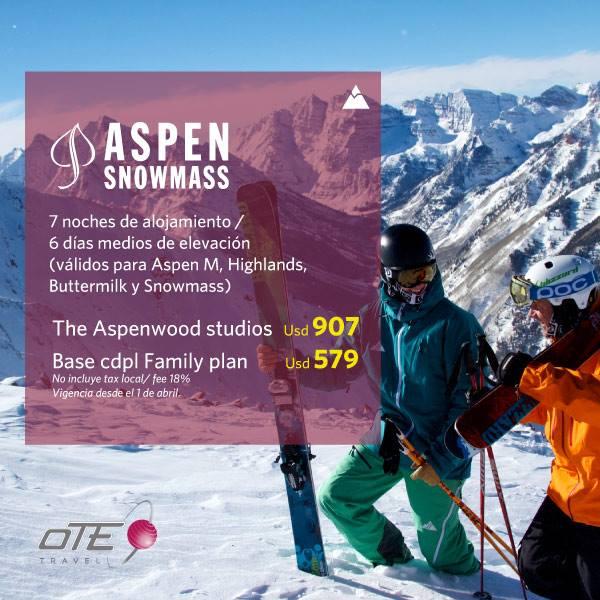 OTE SKI tiene las mejores ofertas para que conozcas Aspen Snowmass en la tempora…