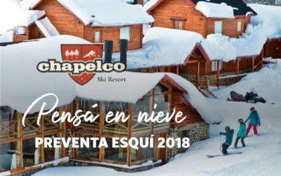 Chapelco: Pre-venta 2018 Aprovechá las mejores tarifas con grandísimas ofertas p…