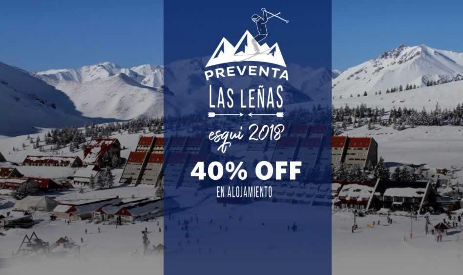 Las Leñas 2018 – 40% OFF en Alojamiento
