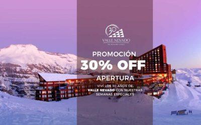 Valle Nevado. 30% OFF.