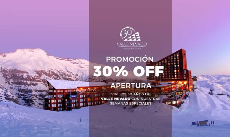 Valle Nevado. 30% OFF.