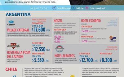 TEMPORADA 2018 – Múltiples destinos con OTE SKI Elegí el centro de esquí que má…