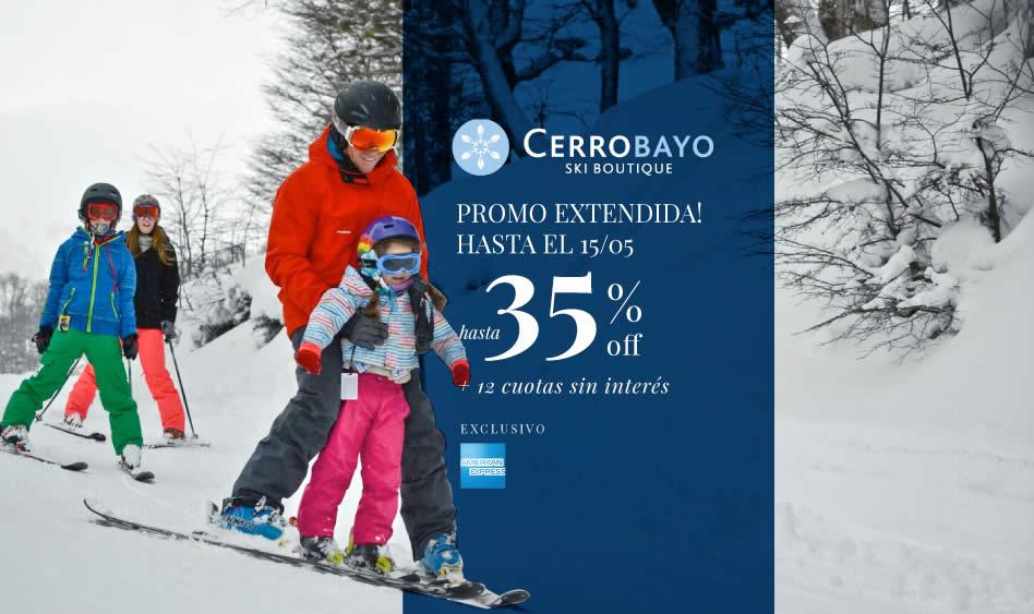 Preventa Extendida! hasta 35% Off y 12 cuotas sin interés en Cerro Bayo, exclusivo con Amex hasta el 15/05!