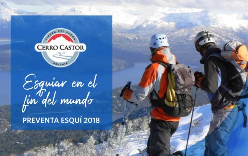 Ski Cerro Castor 2018 | Preventa promocional, reserva hoy