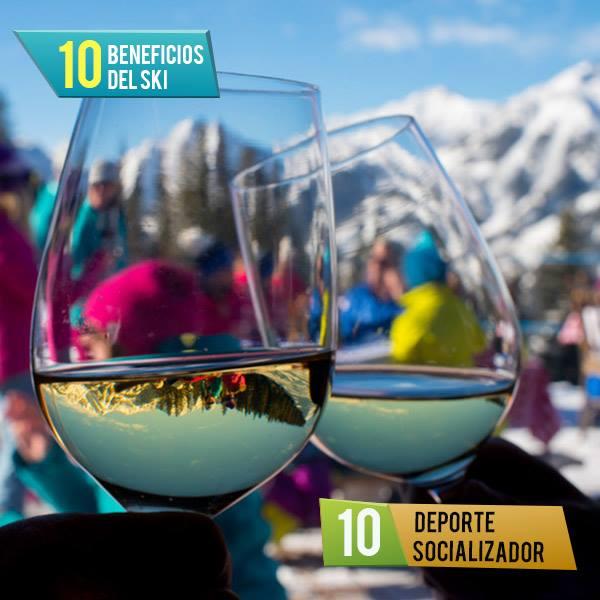 #top10 Beneficios del ski!  #10 Deporte socializador: El esquí es un deporte q…