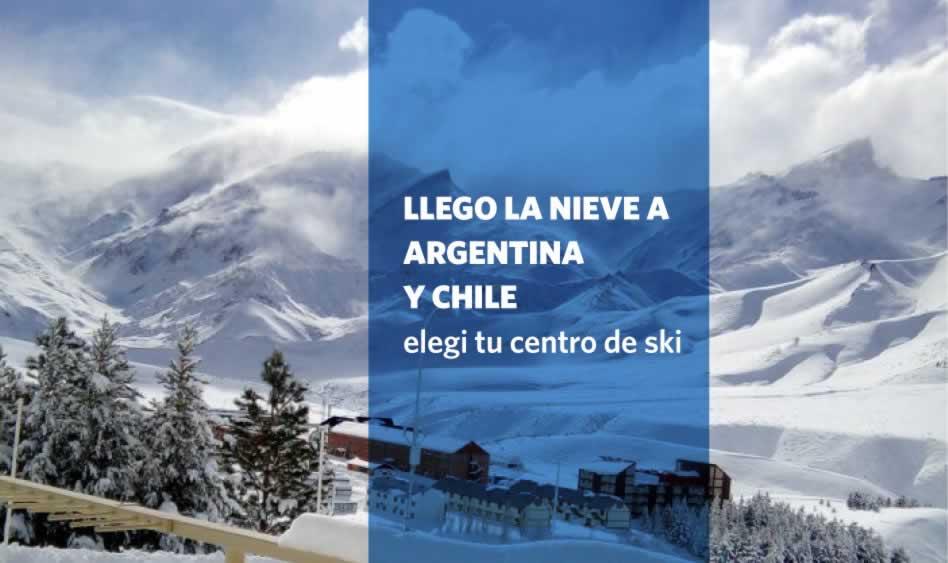 Llegó la Nieve a Argentina y Chile