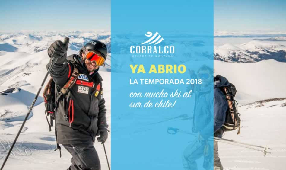 Corralco, ya abrió la temporada ski 2018