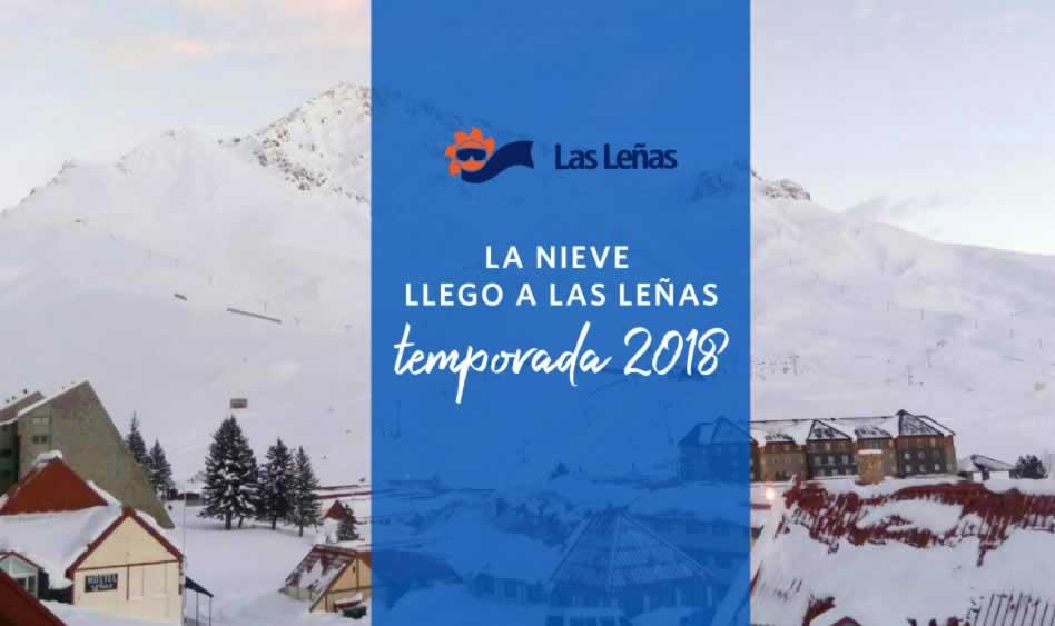 La nieve llegó a Las Leñas 2018