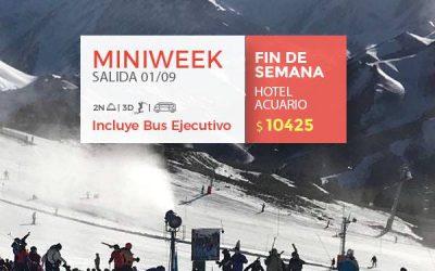 Viví la mejor nieve de  #LasLeñas!  MINIWEEK   3 días de ski, 2 noches HOTEL ACU…