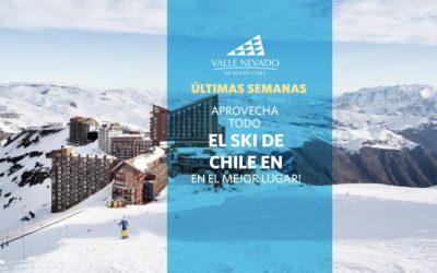 Ultimas semanas. Ski en Chile