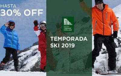 Hotel Termas de Chillán. Temporada Ski 2019 hasta 30% OFF