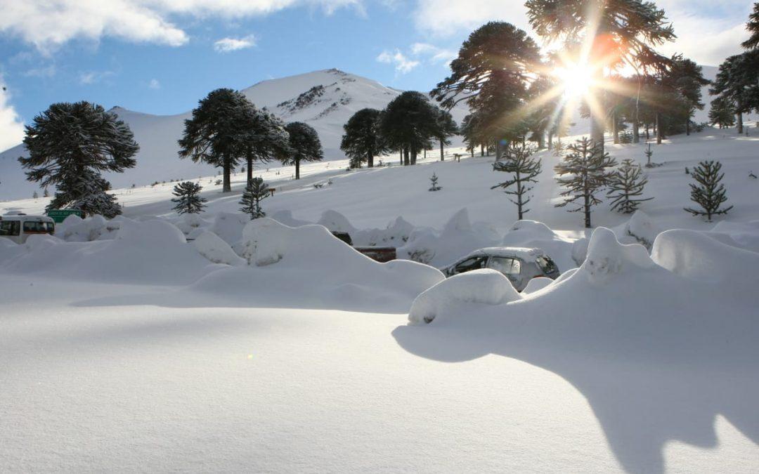 Así luce esta tarde Centro De Ski Corralco, que te espera en Chile con una nueva…