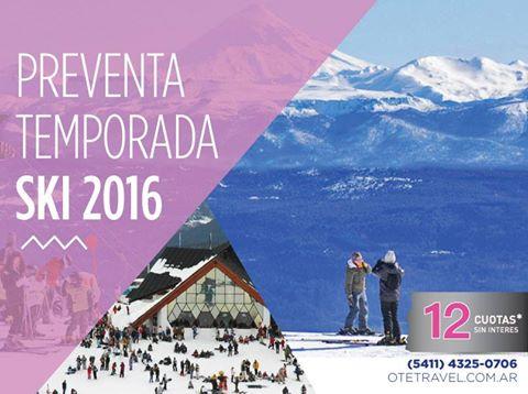 CHAPELCO TEMPORADA 2016  Aprovechá las mejores promociones que OTE SKI tiene par…