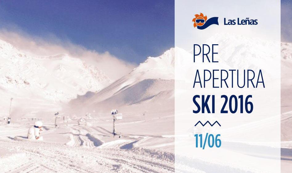 Las Leñas Pre Apertura Ski 2016