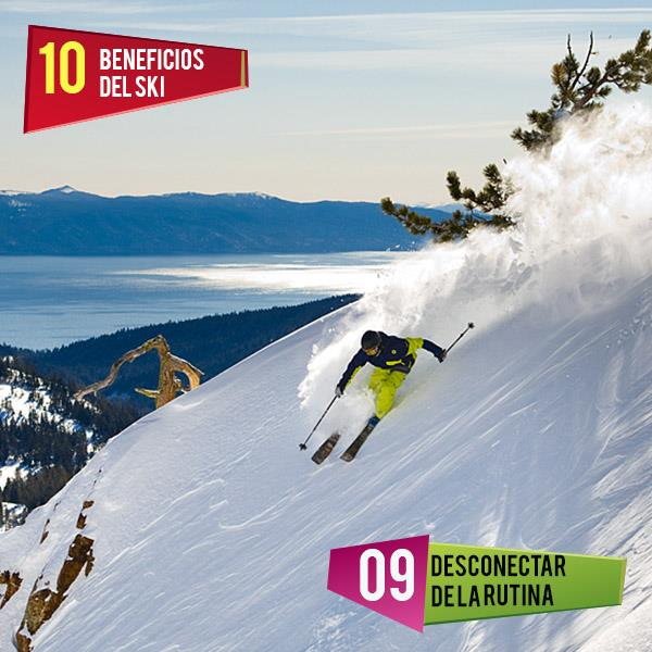 #top10 Beneficios del ski!  #9 Desconectar de la rutina: Practicar ski es Idea…