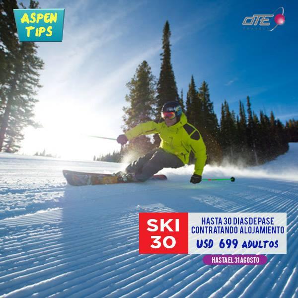 SKI 30: Por un precio promocional de USD 699 para adultos, y usd 399 para niños …