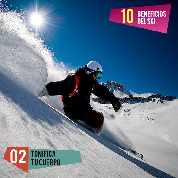 #top10 Beneficios del esquí  #2 Tonificá tu cuerpo: El esquí ayuda a tonificar…