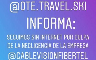 Desde el día martes @ote.travel.ski no tiene internet. La empresa @cablevisionfi…