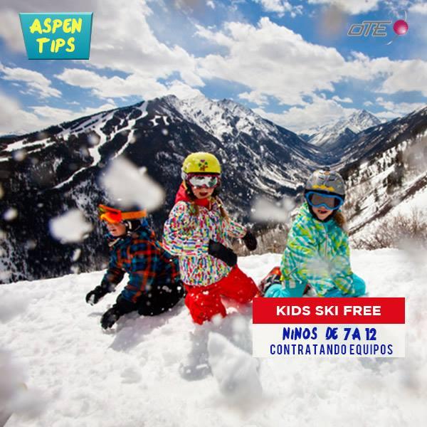 Aspen Kids Free:  Los niños de 7 a 12 años que alquilen equipos a través de o…
