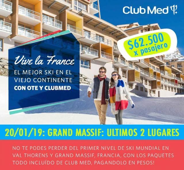 #LASTIMUNUTE Club Med Grand Massif  20 de enero 7 noches de alojamiento habit…