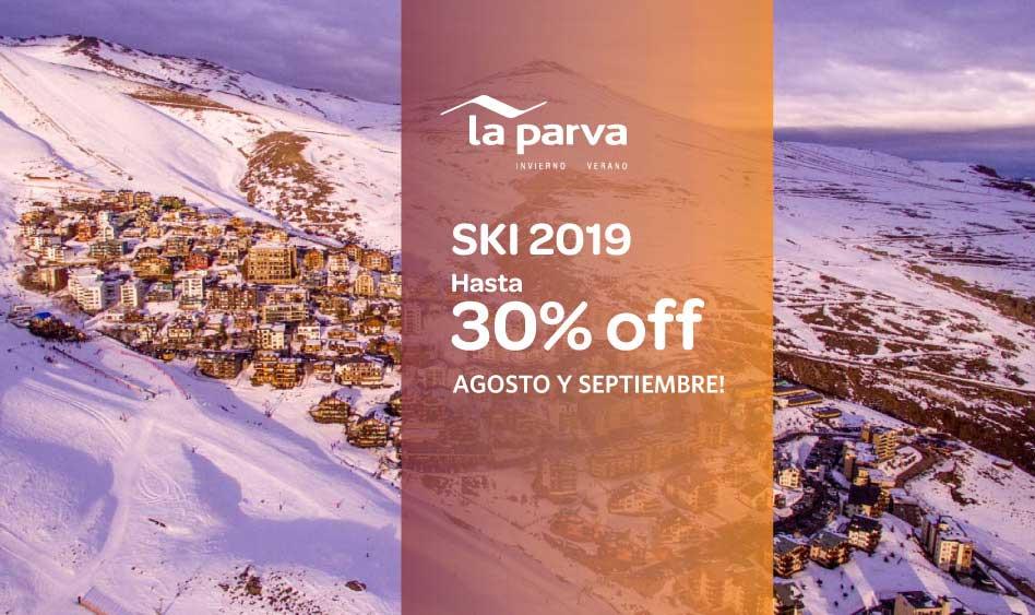 La Parva Ski 2019. Hasta 30% off en Agosto y Septiembre