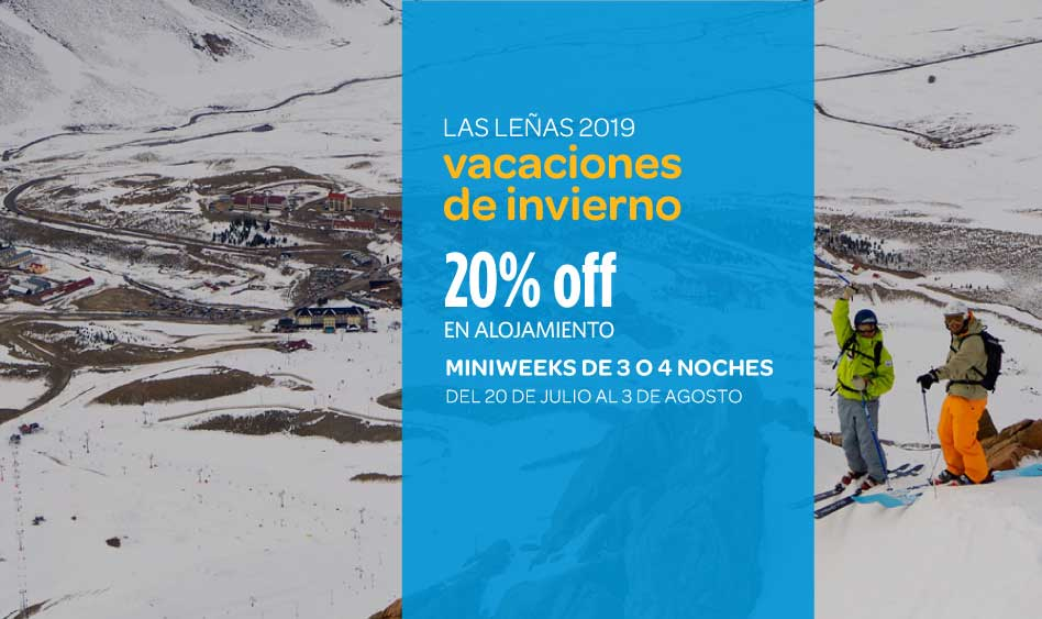 Las Leñas Vacaciones de Invierno 2019 – 20% OFF en Alojamiento