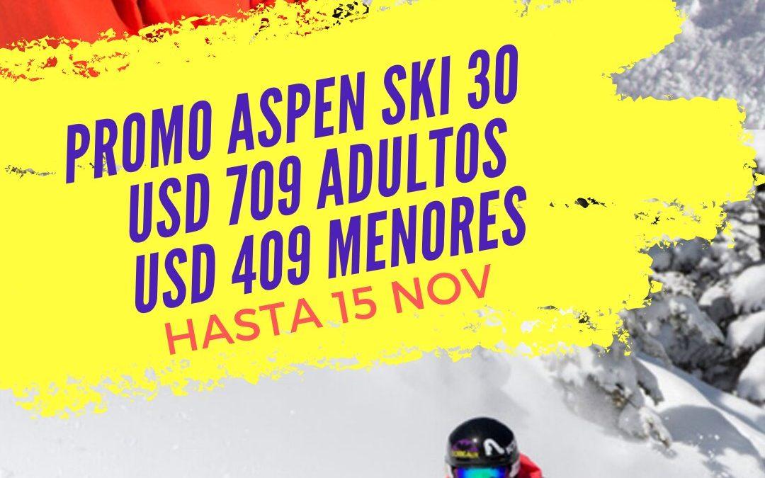 SKI 30 – Imperdible promoción en Aspen!!! Aspen Snowmass te ofrece esquiar dura…