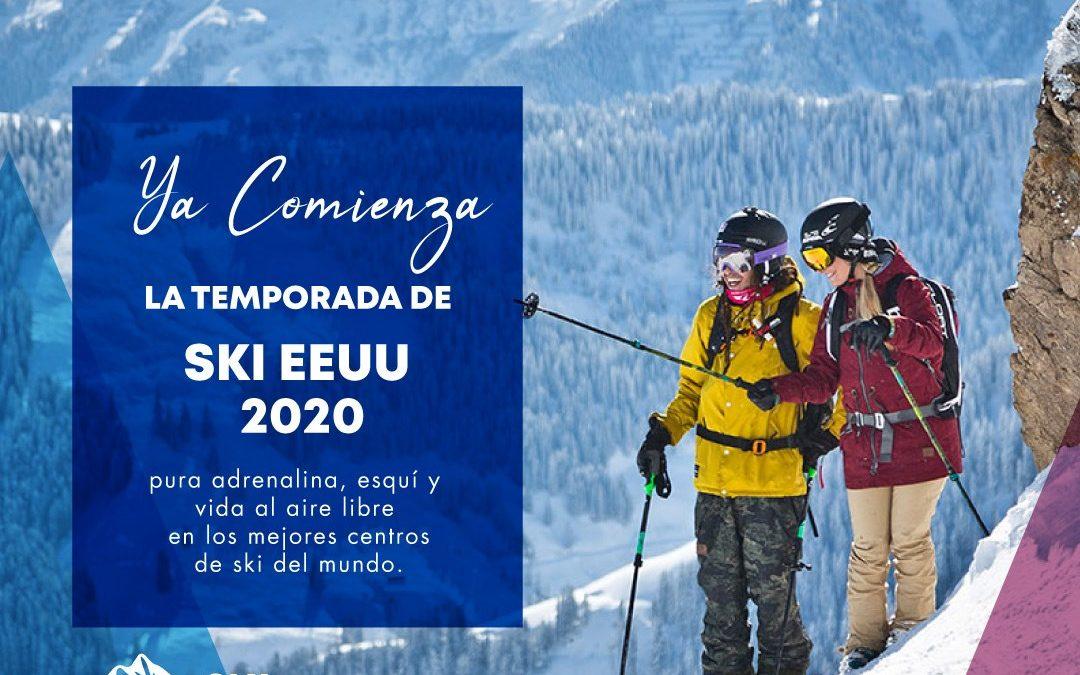 Se viene la Temporada de ski EEUU 2020 y tenemos las mejores propuestas para vos…