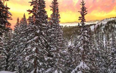 Así atardece en Vail, el mágnifico centro de ski de Colorado (EEUU), que desde e…