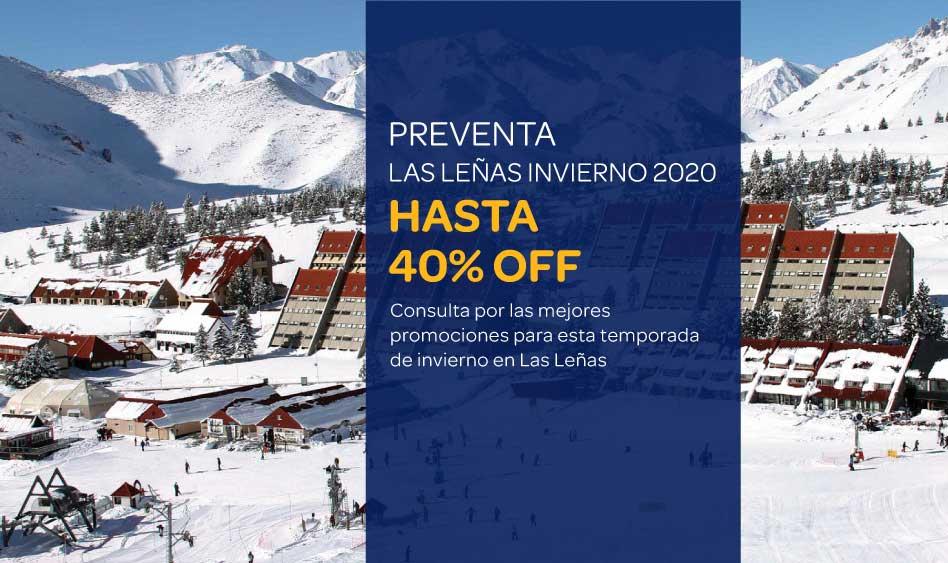 Ski Las Leñas Invierno 2020 – Hasta 40% OFF