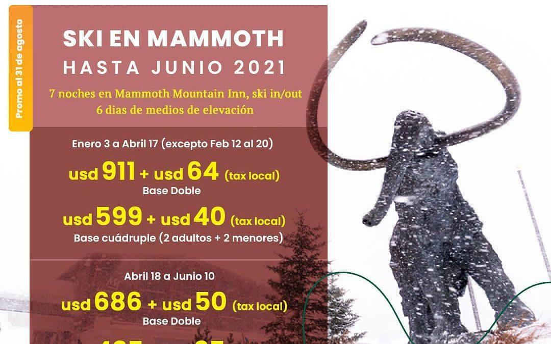 Sabias que @mammothmountain  tiene nieve durante más de 7 meses?  Este her…